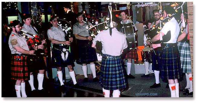 Atlanta bagpipers, circa 1981
