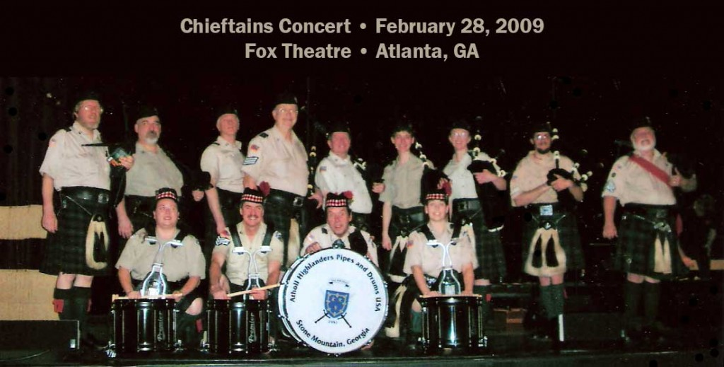 Atholl Highlanders USA with at Fox Theatre with The Chieftains