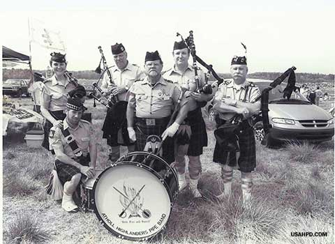 Bagpipers at Atlanta Steeplechase, 1997.